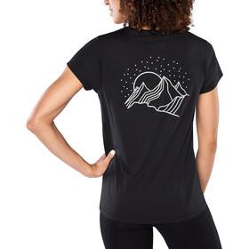 Dakine Mountain Stars T-shirt Tech Femme, black